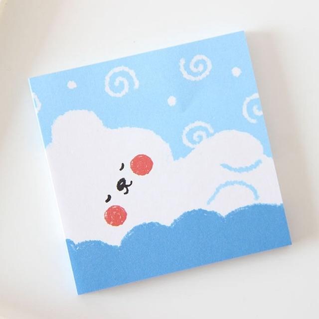 Cranky Cloud Cute Handmade Notepad