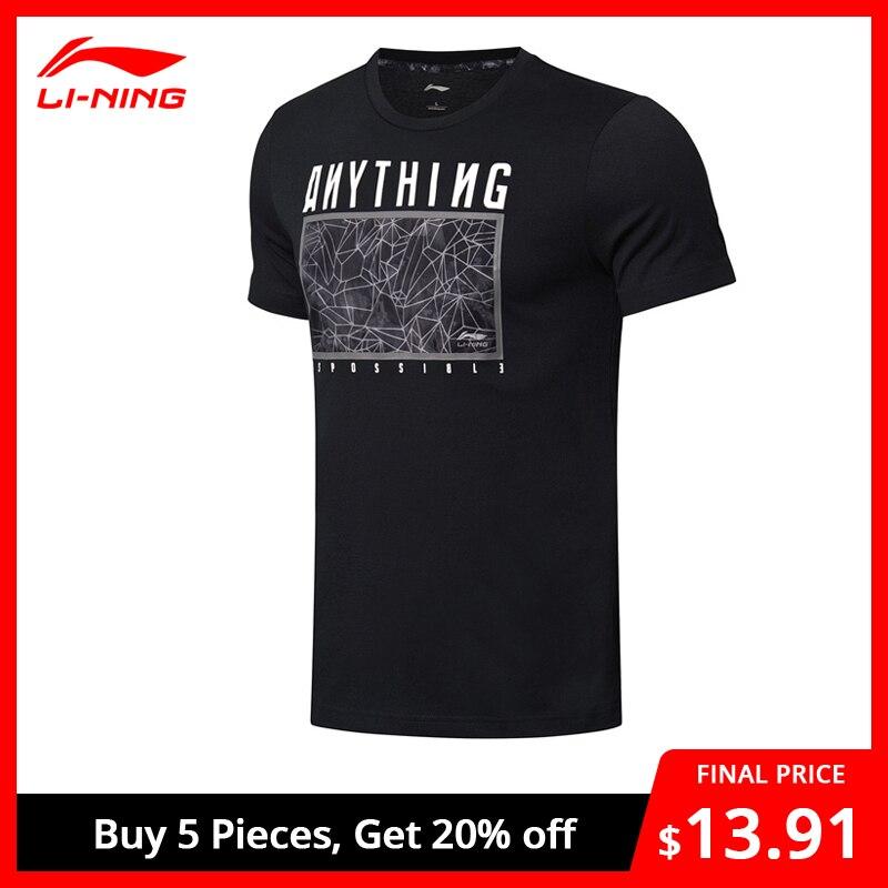 Li-Ning Men The Trend T-Shirts Breathable 63% Cotton 37% Polyester Regular Fit LiNing Li Ning Sports Tee Tops AHSN585 MTS2829