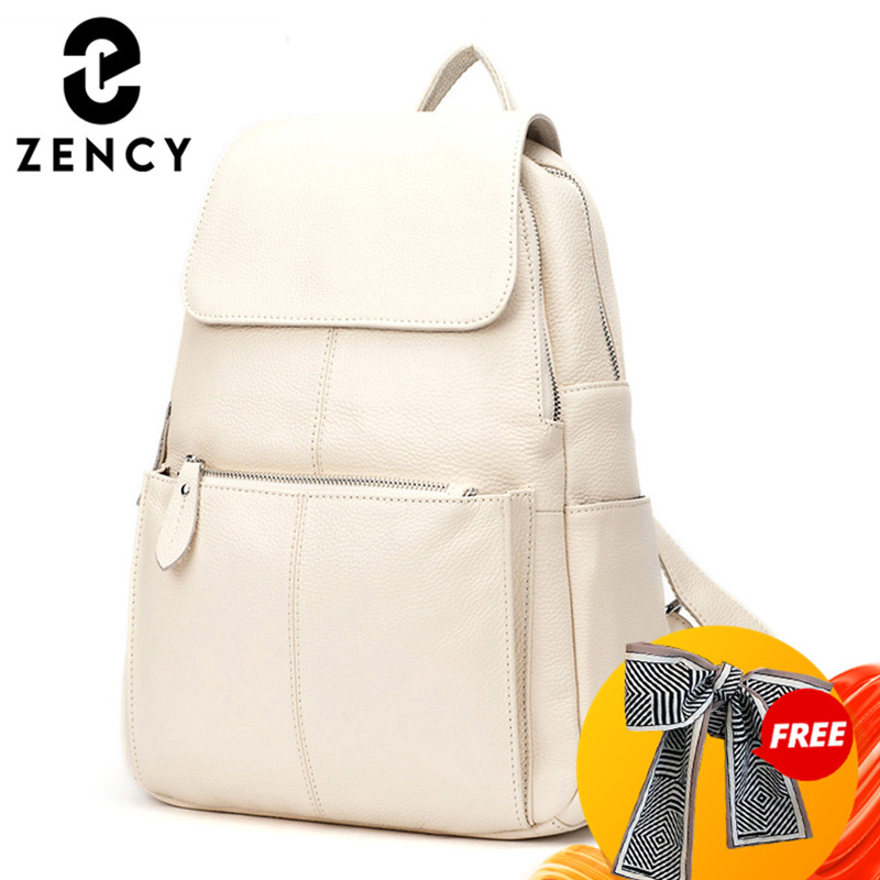 Zency Fashion Soft Genuine Leather Large Women Backpack High Quality A+ Ladies Daily Casual Travel Bag Knapsack Schoolbag Book|fashion women backpack|women backpackwomens fashion backpacks - AliExpress