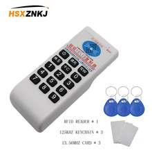 Duplicador do leitor 125 mhz da identificação do escritor 13.56 khz do cartão de acesso rfid para a duplicação do cartão do controle de acesso