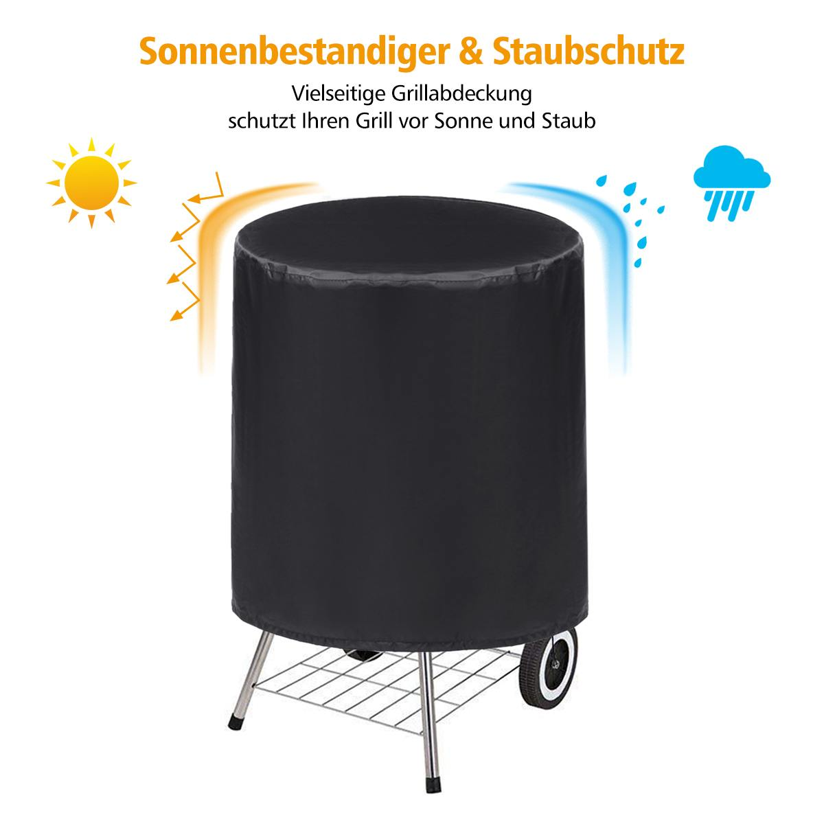 Black Waterproof BBQ Grill Barbeque Barbacoa Anti Dust Protector Dome Cover Outdoor For Gas Charcoal Barbecue 710x680mm