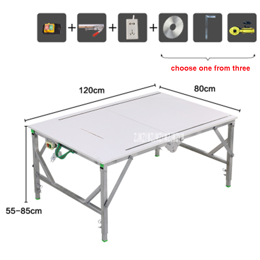 Portable Lifting And Decorating Woodworking Saw Table High-quality Household Folding Saw Table Woodworking Workbench (120*80cm)