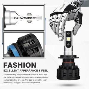Image 5 - NOVSIGHT H4 H7 H11 H1 H3 9005 9006 자동차 LED 전조등 전구 Hi Lo 빔 60W 18000LM 6500K 자동 전조등 안개 전구 DC12v 24