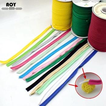 1 2 #8222 (12mm) skośna bawełniana taśma do przewodów rurowych wiążąca dla DIY Patchwork szycie ubrań co i przycinanie tekstylia domowe 5 metrów tanie i dobre opinie Tak ( 50 sztuk) 5yards cotton