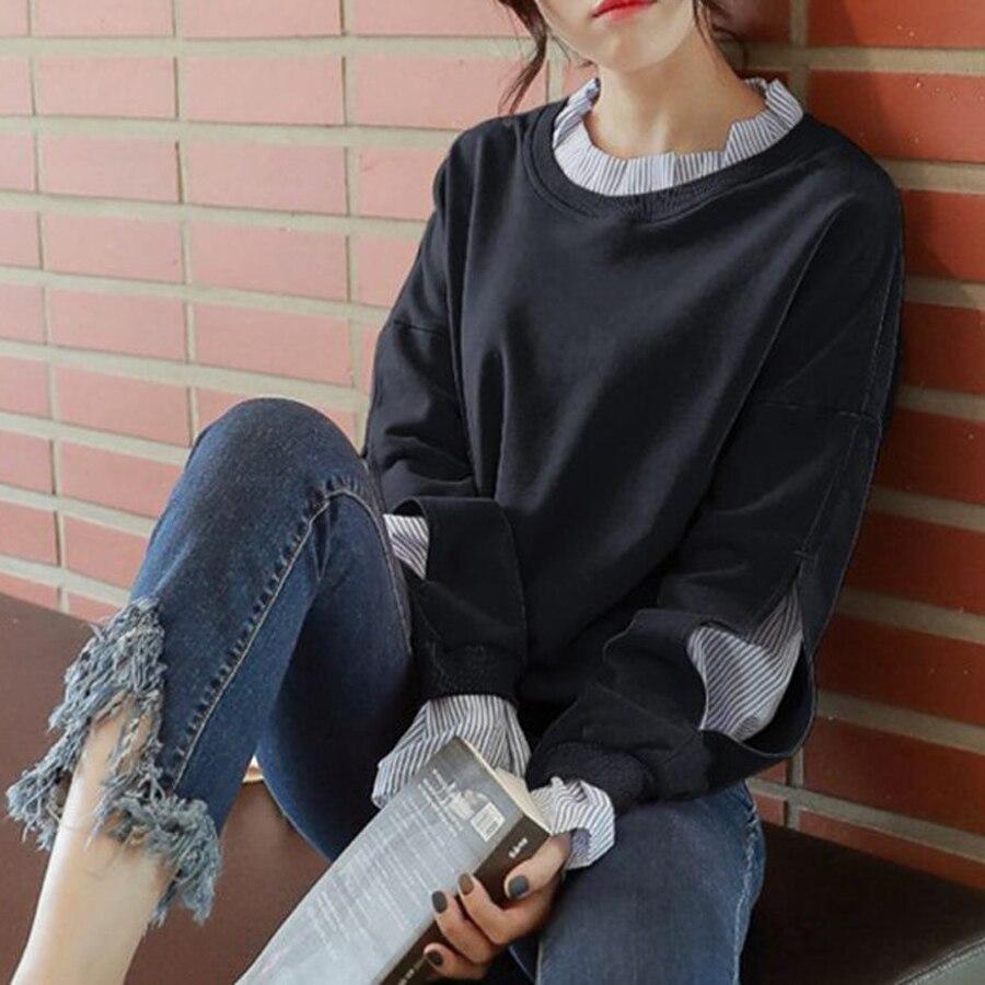 2019 Winter Women Hoodies Sweatshirt Print Casual Long Sleeve Slim Pullovers