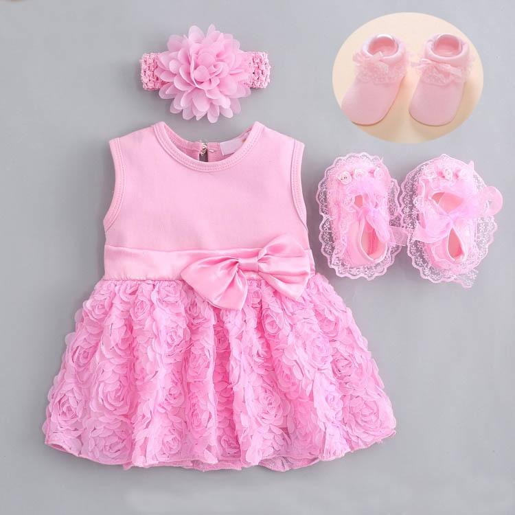 Baby Girl niemowlę noworodka sukienka letnie dzieci wesele stroje urodzinowe 0 3 6 9 miesięcy 1 rok sukienka buty suknia do chrztu