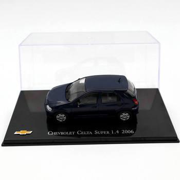 IXO 143 Chevrolet Celta Super 1.4 2006 ciemnoniebieski Diecast modele kolekcja Auto samochodzik dla dziecka