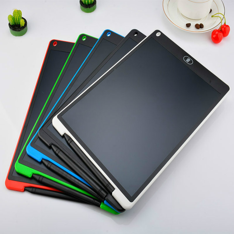 Mini Magnetic Blackboard Board 12 Inch Electronic Chalkboard For Kids LCD Writing Notebook Flipchart Drawing Flip Chart Tablet