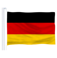 2017 The Germany Flag Polyester Flag 5*3 FT 150*90 CM OR 10 pcs Small size Germany flag With flagpole High Quality