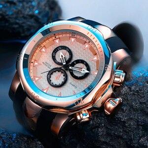 Горячие силиконовые Blet повседневные спортивные часы для мужчин 3D с большим лицом Quartzwatch Роскошные брендовые военные наручные часы relogios masculino 2020