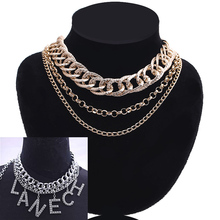 цена на Women Choker Necklace For Women Big Chain Statement NecklacePendant Necklaces Jewelry 2019 custom statement necklace