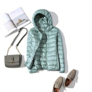 New Brand 90% White Duck Down Jacket Women Autumn Winter Warm Coat Lady Ultralight Duck Down Jacket Female Windproof Parka 20