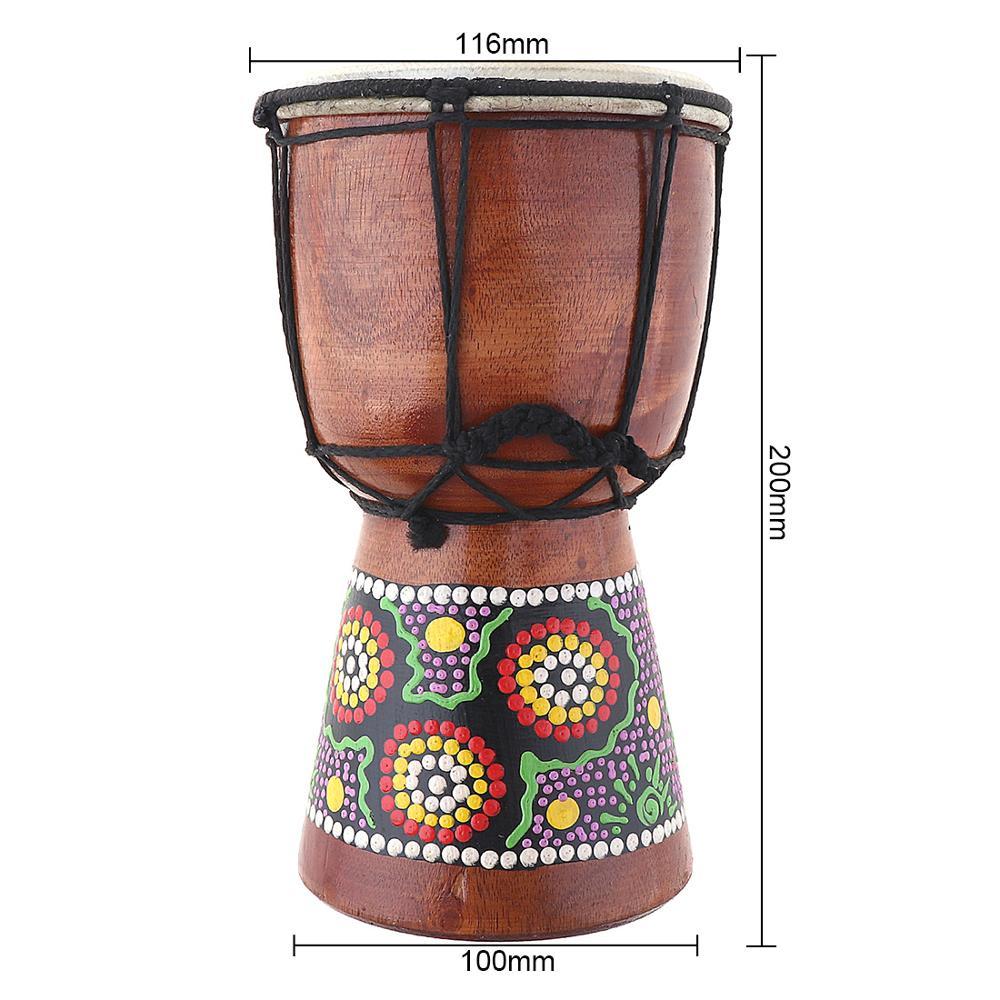 Купить с кэшбэком 4Inch 6 Inch Professional African Djembe Drum Classic Painting Wood Goat Skin Good Sound Traditional Musical Instrument