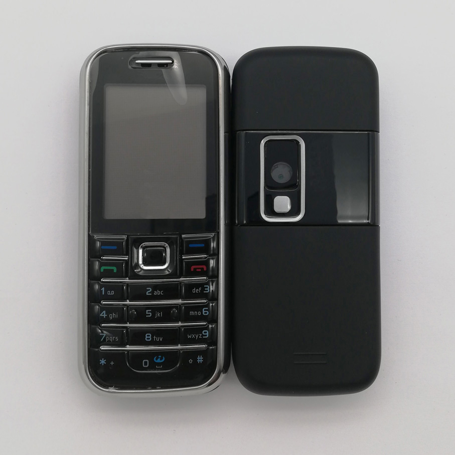 Housing For <font><b>Nokia</b></font> <font><b>6233</b></font> High Quality New Full Complete <font><b>Mobile</b></font> <font><b>Phone</b></font> Housing Cover Case + English/Russian/Arabic Keypads image