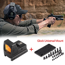 Collimator Scope Red Dot Sight Airsoft Red Dot Sight Scope With Glock Universal Mount Airsoft Hunting Rifle Optical Sight цена 2017