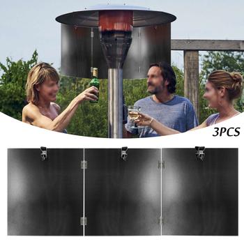 3 sztuk grzejnik tarasowy dziedziniec reflektor tarcza zewnętrzne grzejniki dla Patio propan i gazu ziemnego dziedziniec grzejnik reflektor tanie i dobre opinie CN (pochodzenie) 10-14 Godzin
