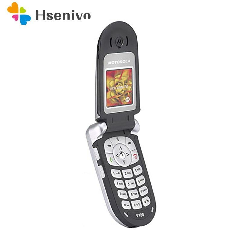 V180 100% Original Unlocked Fashion Motorola V180  Mobile Phone Cell Phone With Russia/Arabic Language Free Shipping