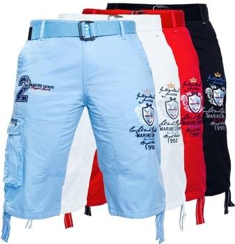 цена на Zogaa Summer Men Shorts Leisure Casual Shorts Knee Length Sweatpants Male Letter Print Drawstring Harem Shorts