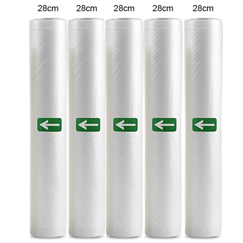 5 Rolls/ 2 Rolls/Lot Kitchen Food Vacuum Bag Storage Bags Fresh Bag For Vacuum Sealer Food Keep 12+15+20+25+28cm*500cm