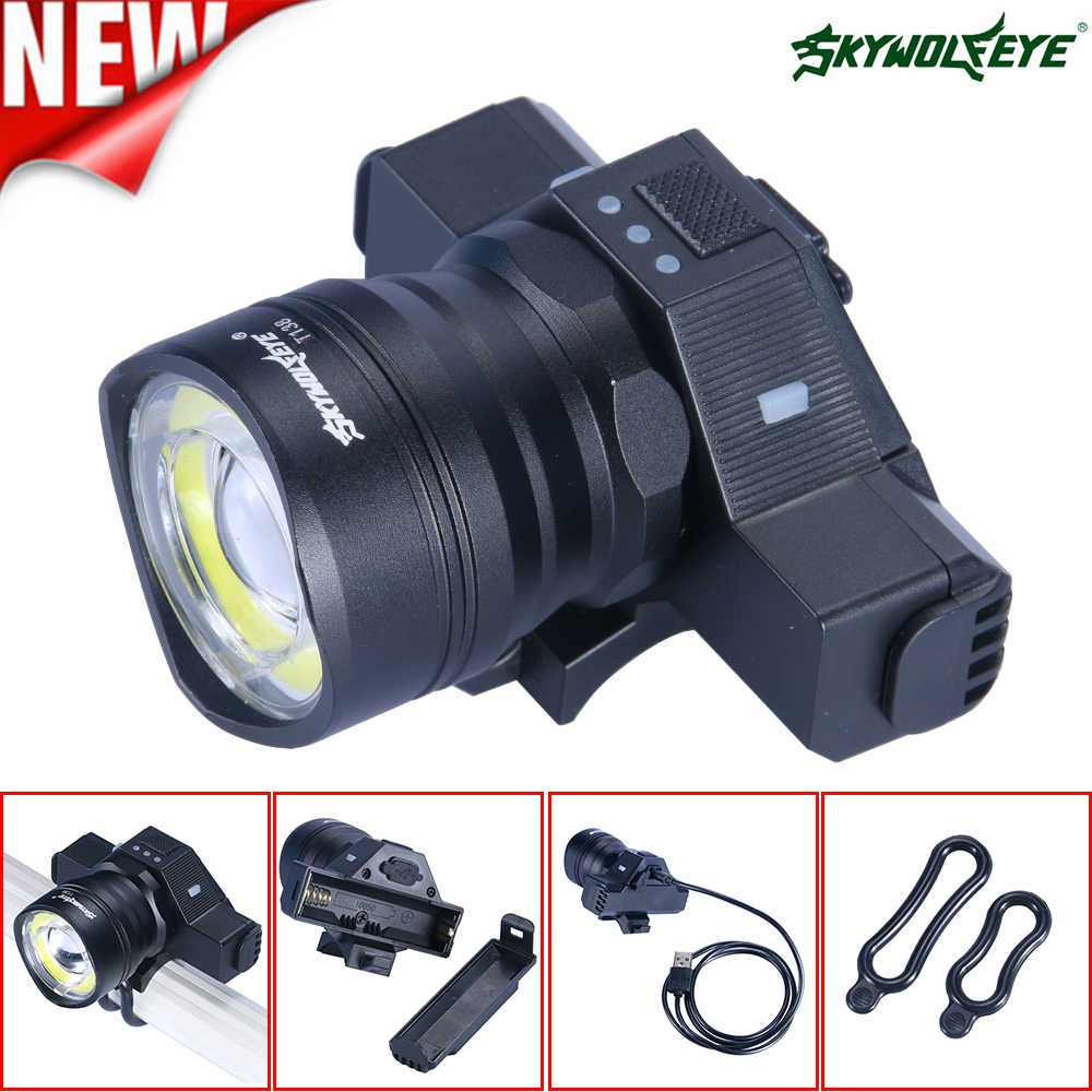 55000LM LED Bike Light USB Rechargeable T6+COB Bicycle Head Flashlight Torch