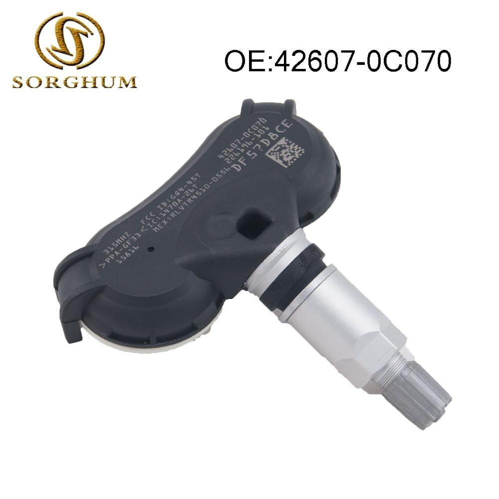 Set of 4 TPMS Sensors 42607-0C070 426070C070 For Toyota Tundra Sequoie Sienna