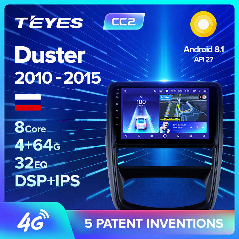 TEYES CC2 Per Renault Duster 1 2010 - 2015 Per Nissan terrano 2014 - 2020 Auto Radio Multimedia Video Player di navigazione GPS Android 8.1 No 2din 2 din dvd
