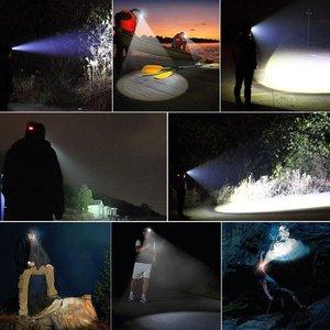 Image 5 - Güçlü LED far far 5LED T6 kafa lambası 8000 lümen el feneri Torch kafa ışık 18650 pil için en iyi kamp, balıkçılık