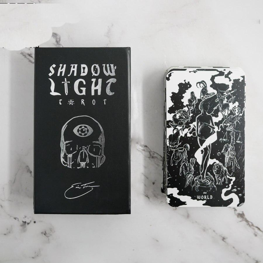 7x12cm Ombra Luce tarocchi tutto Inglese versione 88 pz/set boxed carta da gioco tarocchi scheda di gioco di carte - 4