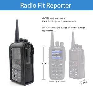 Image 5 - Bolsa de couro macio anytone AT D878UV, bolsa compatível com anytone AT D878UV AT D878UVPLUS walkie talkie