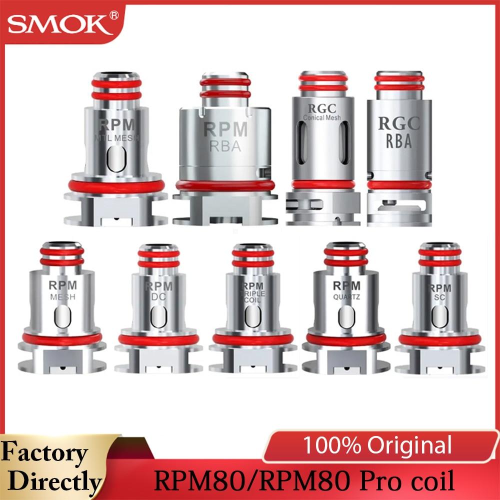 Original SMOK RPM RGC Coil RBA Mesh Coil 0.4ohm Quartz 1.2ohm SC 1.0ohm MTL RGC Conical RBA For Fetch Pro/RPM80/RPM80 Pro