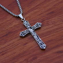 New Fashion Mens and Womens Necklace Jesus Cross Pendant Gold Silver Personality Jewelry