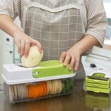 Ручной нож из нержавеющей стали Овощной кухонный инструмент Многофункциональный сменный ломтик овощерезка зеленый+ белый P