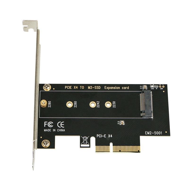 M.2 Nvme Ssd Ngff To <font><b>Pcie</b></font> 3.0 <font><b>X4</b></font>/X8/X16 Adapter <font><b>Pcie</b></font> To <font><b>M2</b></font> Expansion Card M Key Interface Card Full Speed image
