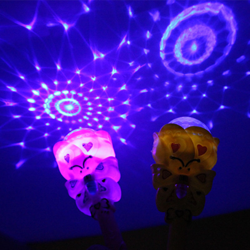 20cm Luminous Projection Magic Wand Children's Toys Flash Magic Wand
