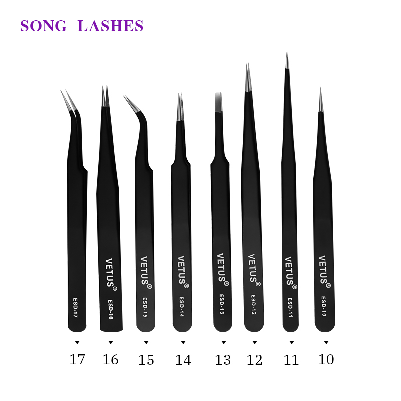 SONG LASHES High Quality Professional For  Lashes Eyelash Extension  Tweezers Tweezers Mix ESD