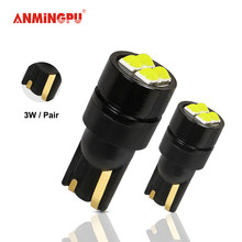 ANMINGPU 2x Signal Lamp W5W T10 LED Canbu 168 194 501 W5W LED Red 3030 4SMD Car Interior Wedge Reading Dome Light 12V 6000K(China)