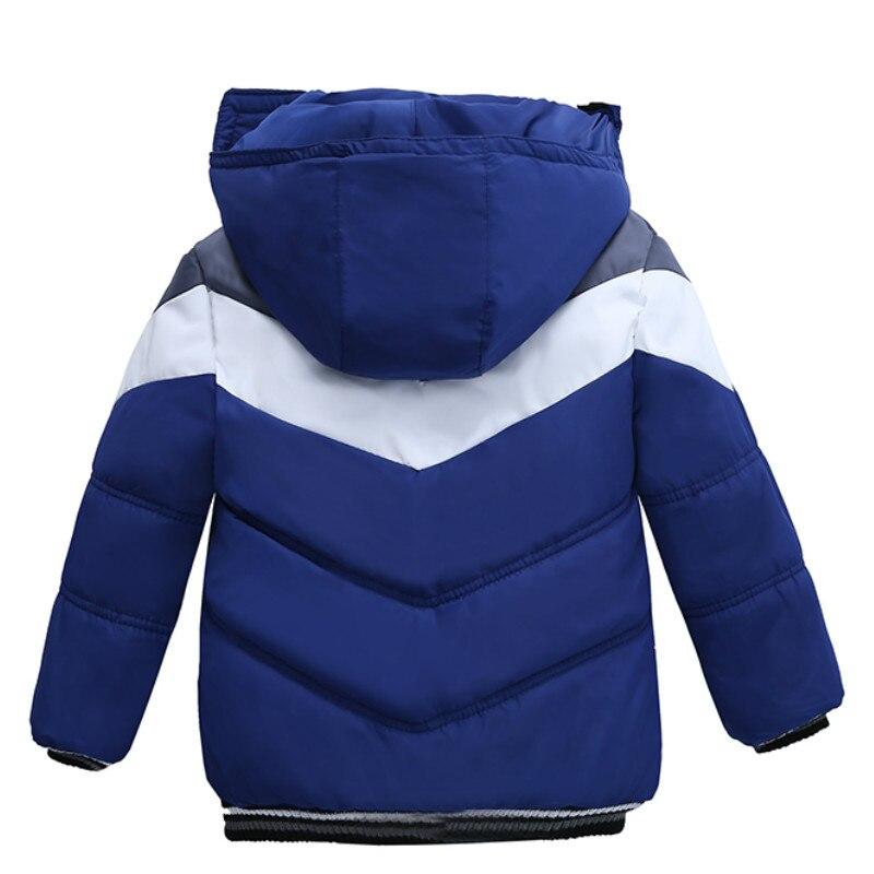 Christmas Patchwork Boys Jacket Outwear Warm Hooded Winter Jackets for Boy Girls Coat Children Parka Clothing Coat Windproof 2