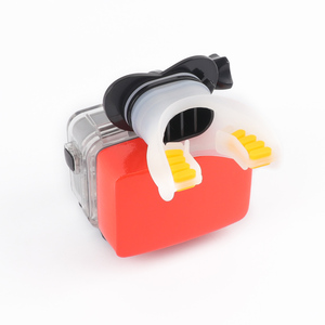 Image 4 - Câmera de ação surf boca montagem para gopro hero 9 8 7 5 6 4 preto prata sessão xiaomi 4k sjcam sj8 7 h9 go pro surf acessório