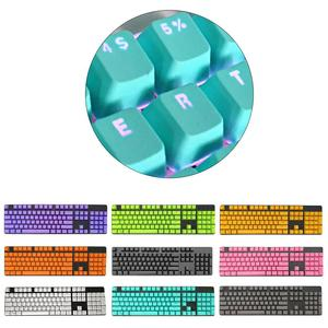 104Pcs/Set PBT Universal Backlit Key Cap Keycaps for Cherry Mechanical Keyboard Computer Peripherals for Cherry/Kailh/Gateron