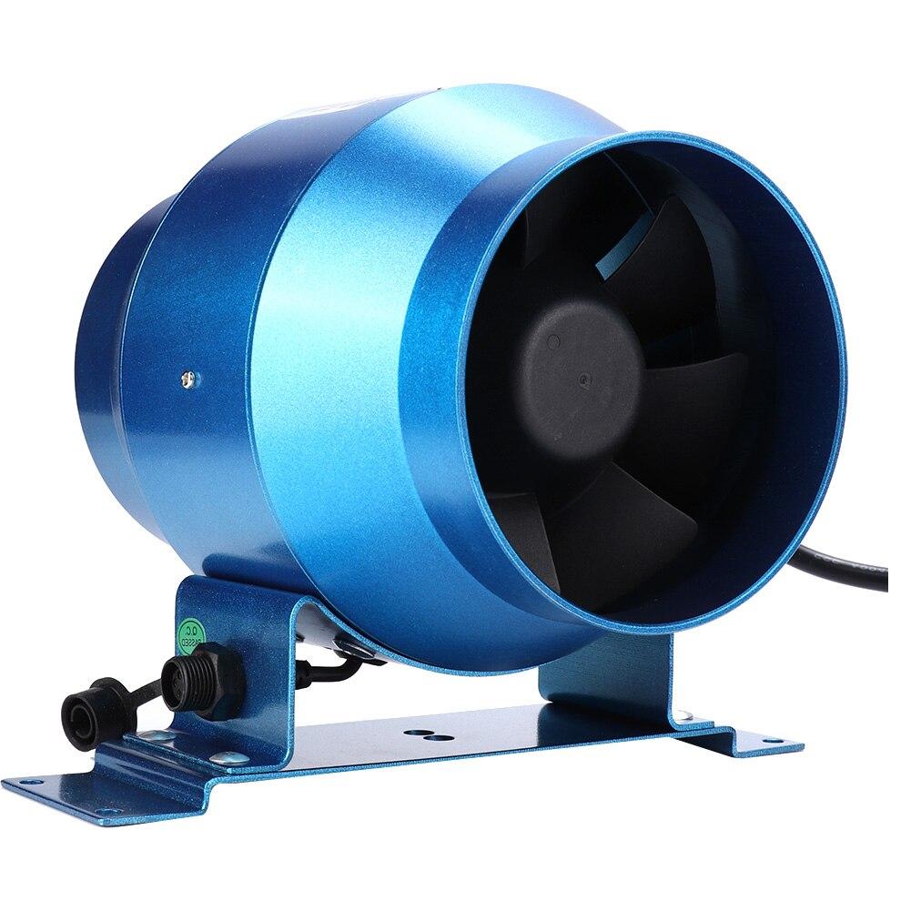 4 Inch Exhaust Fan Adjustable Speed Duct Fan Garden Farmland Window Airflow Boost Air Ventilator Pipe Ventilation Extractor 220V 4