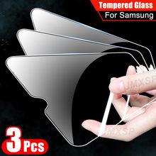 3 piezas de vidrio templado para Samsung Galaxy A01 A11 A21 A31 A41 A51 A71 protectora de vidrio M01 M11 M21 M31 M51 A10 A20 A30 A50 de vidrio