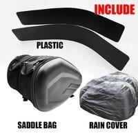 2018 SA212 Bolsa tipo alforge para motocicleta  bolsa à prova d'água para guardar capacete ou para bagagem de viagem + um par capas de chuva e plásticos