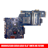 Sheli para placa-mãe para substituir placa principal h000052580 para toshiba satélite c850 l850 15.6 'hhm76 hd 7670m