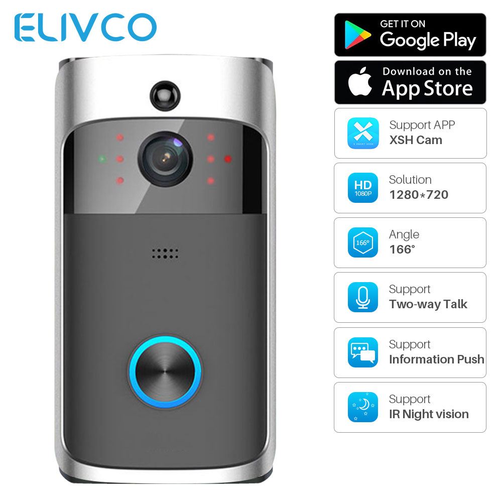 Smart Video Doorbell WiFi Two Way Audio Wireless Video Intercom IP Camera Monitor Home Security Ring Door Bell APP Control