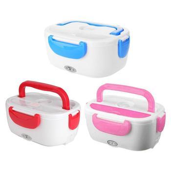 12 V/110 V Lunch Box Contenitore di Alimento Portatile Riscaldamento Elettrico Più Caldo Cibo Riscaldatore di Riso Contenitore di Set per apparecchiare per la Casa dropship