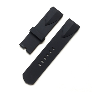 Image 3 - 22 ミリメートル 24 ミリメートル黒青シリコーンゴム時計バンド corum admirals カップ wacth ストラップリストバンドブレスレットなしバックル
