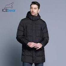 ICEbear 2019 最高品質暖かい男性の暖かい冬ジャケット防風カジュアルなアウターウェア厚いミディアムロングコートの男性のパーカー 16M899D