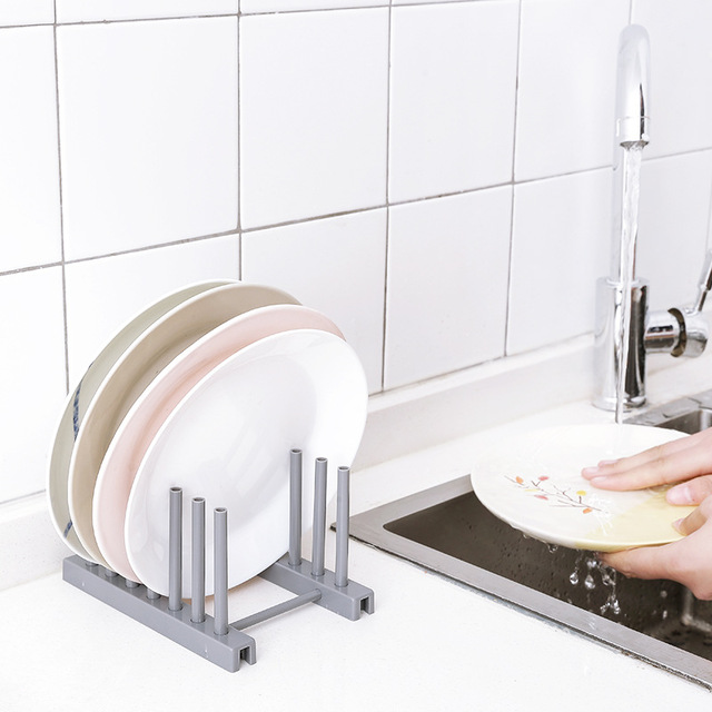 Kitchen Vegetable Fruits Organizer Storage Draining Rack Sink Dish Plate Drainer Basket 46X16.5X8CM 4Colors Optional