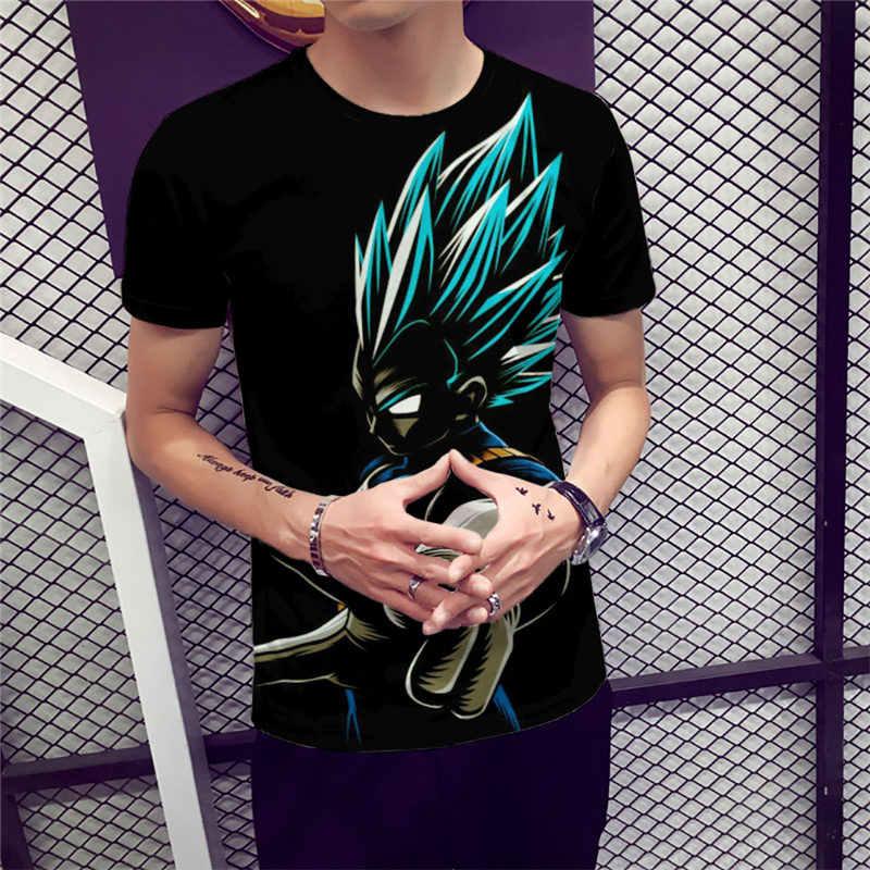 Nieuwe Dragon Ball Z Goku 3D t-shirt Korte Mouw O-hals t-Shirt Zomer Saiyan Vegeta Harajuku Merk Kleding TShirt Aziatische size 6XL