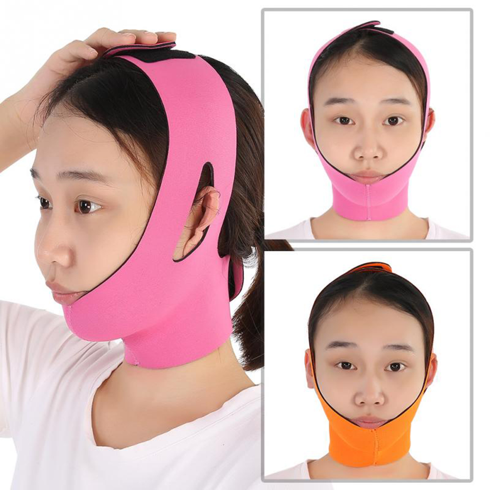 Women Reduce Double Chin Thin Face Anti Wrinkle Face Slimming Bandage V Shape Mask Face Firming Face-Lift Belt Beauty Tools